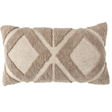 Cotton Blend Chenille Lumbar Pillow
