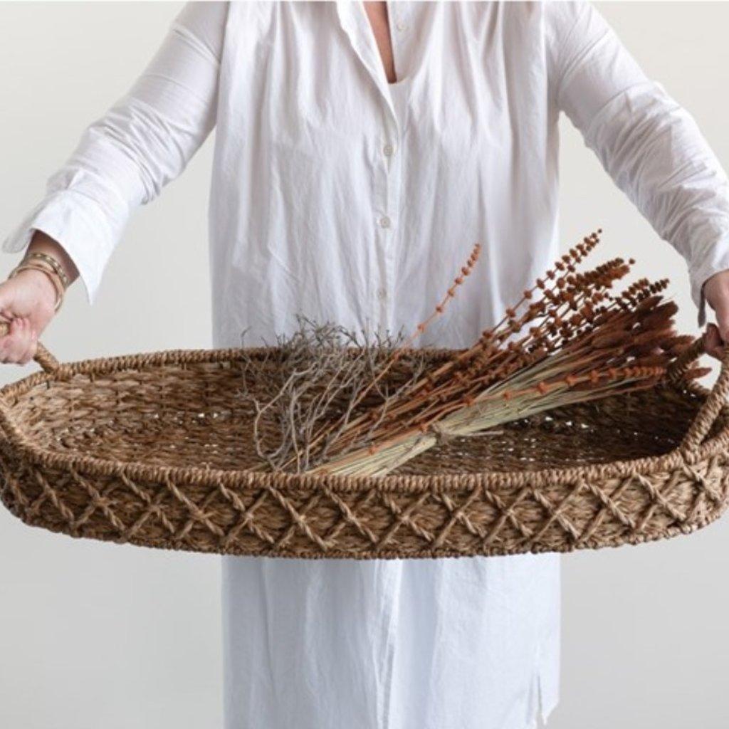 Oval Bankuan Weave Tray
