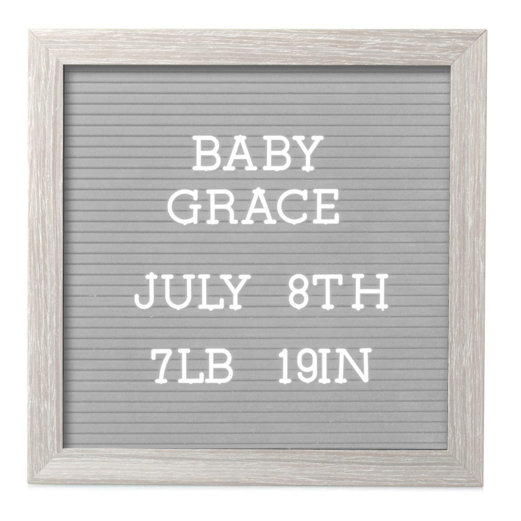 Rustic Wooden Letterboard Set with 188 Letters & Numbers Dark Gray