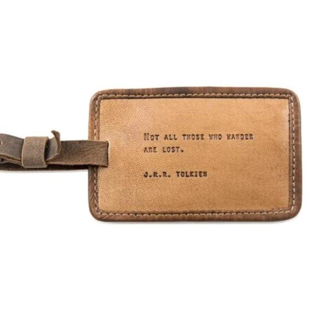 Sugarboo J R R Tolkien Leather Luggage Tag