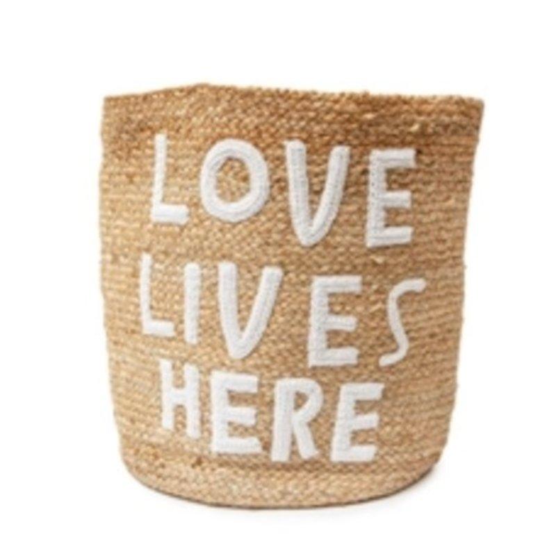 Sugarboo Love Lives Here Jute Basket