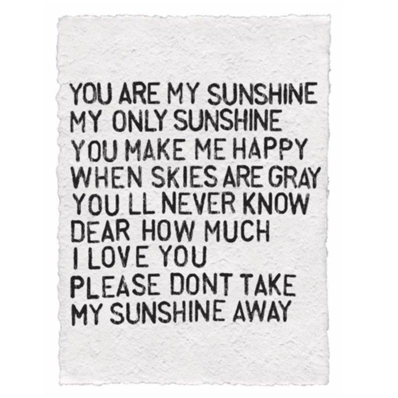 Sugarboo You Are My Sunshine Paper Print