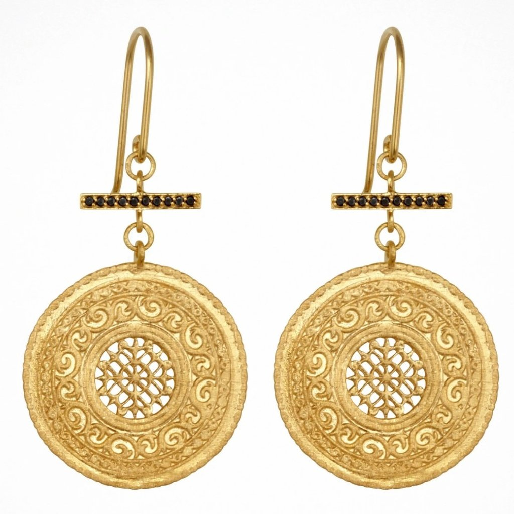 Temple Of The Sun Selma Earrings Gold