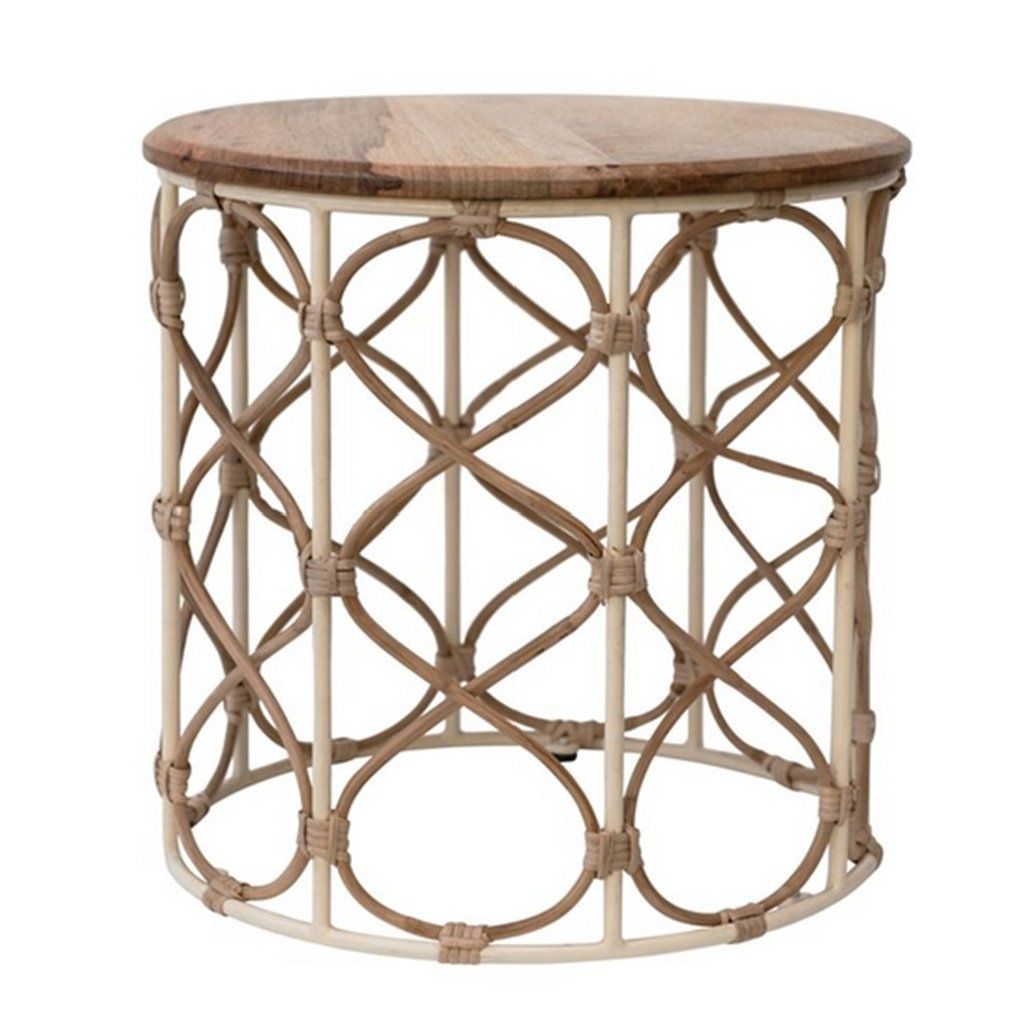 Round Cane Table