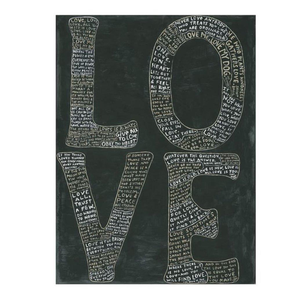 Sugarboo Art Print - L-O-V-E (BLACK)