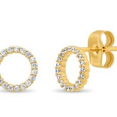 Tai CZ Open Circle Earrings