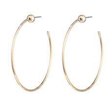 Small Icon Hoops High Polished Gold