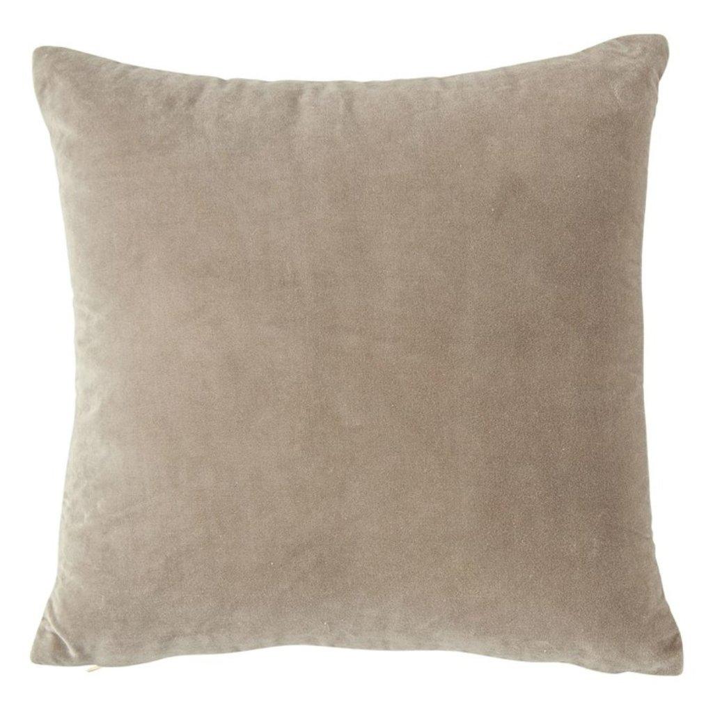 """20"""" Square Cotton Velvet Front Pillow"""