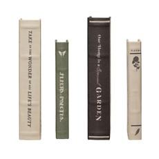 MDF & Canvas Book Storage Boxes with Garden Studies Prints, Set of 2, 2