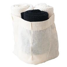 Cotton Knit Dish Cloths, Black & Cream Color, Set of 3 in Cotton Bag
