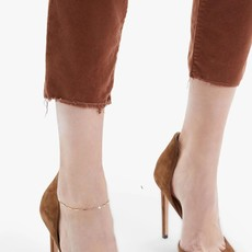 Mother Mid Rise Dazzler Ankle Fray