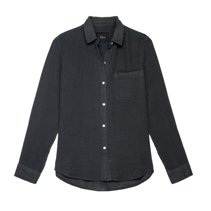 Rails Ellis Button Up Washed Black
