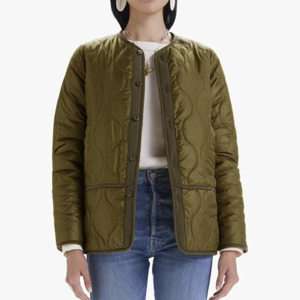 Mother THE JACKET-LINING JACKET ARMY GREEN