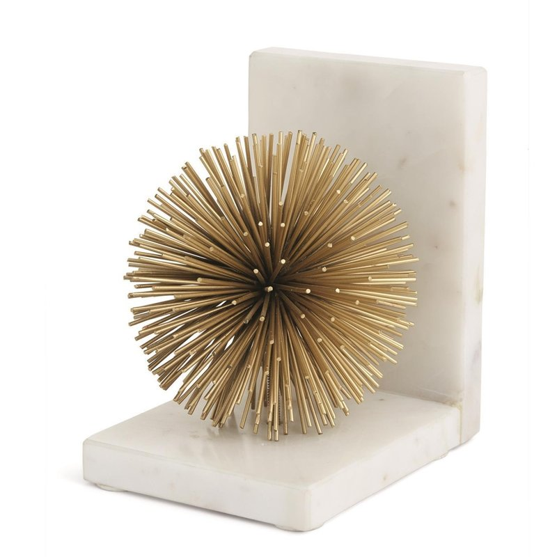 Two's Company Set of 2 Gold Starburst Bookends