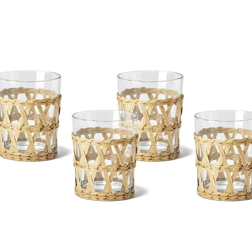 Two's Company Lattice Drink Glass Old Fashion 8 oz Set of 4