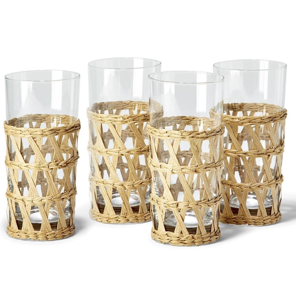Two's Company Lattice Drink High Ball 13.5 oz Set of 4