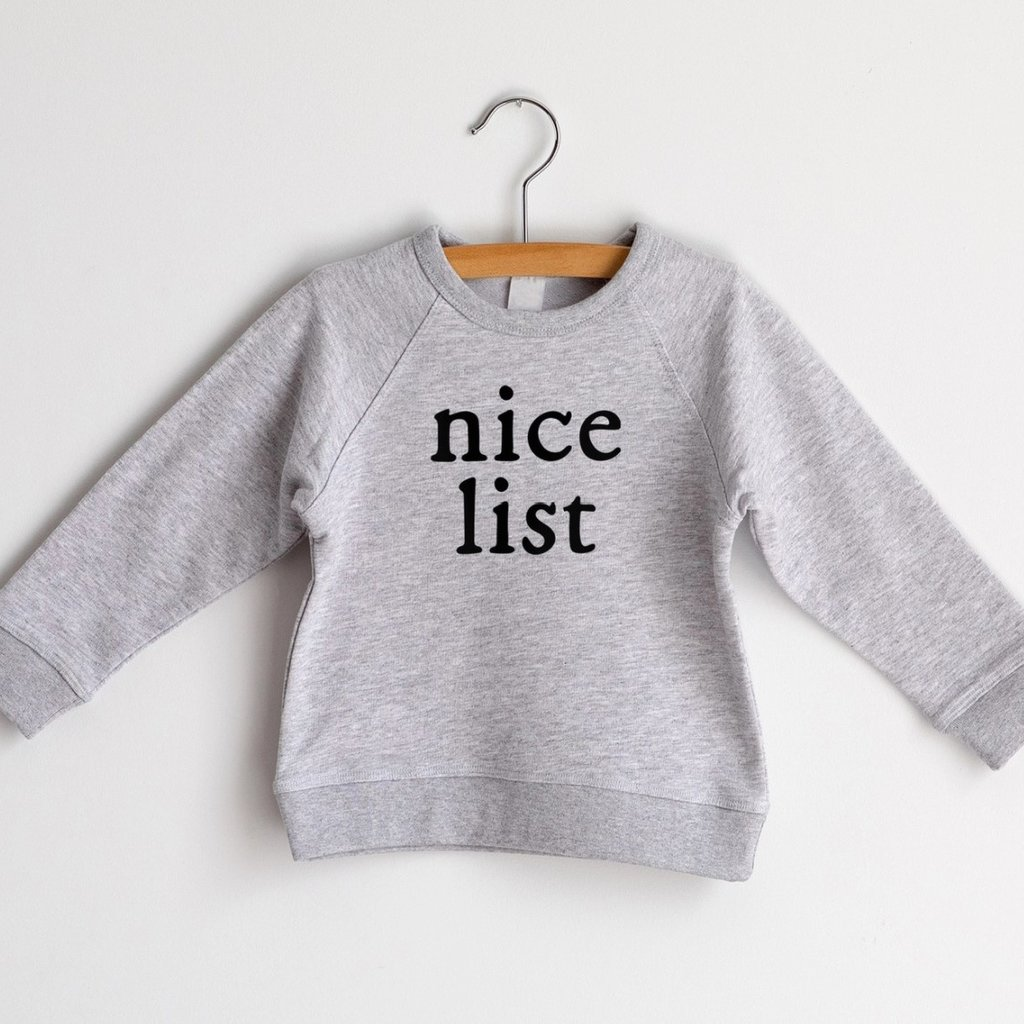 Nice List French Terry Organic Baby & Kids Pullover