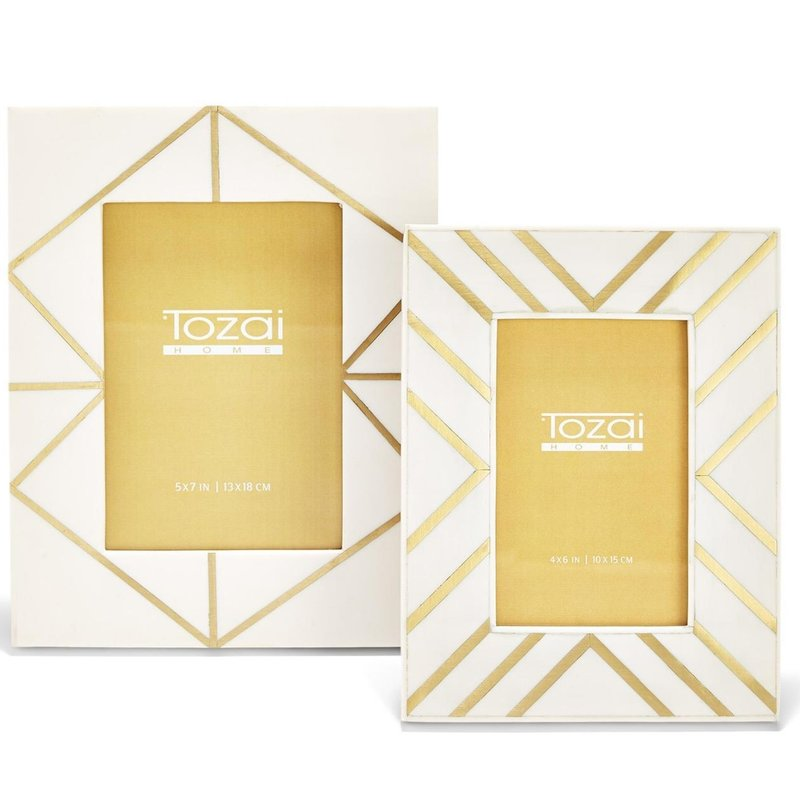 Two's Company BRASS ANGLES INLAY FRAMES 5x7