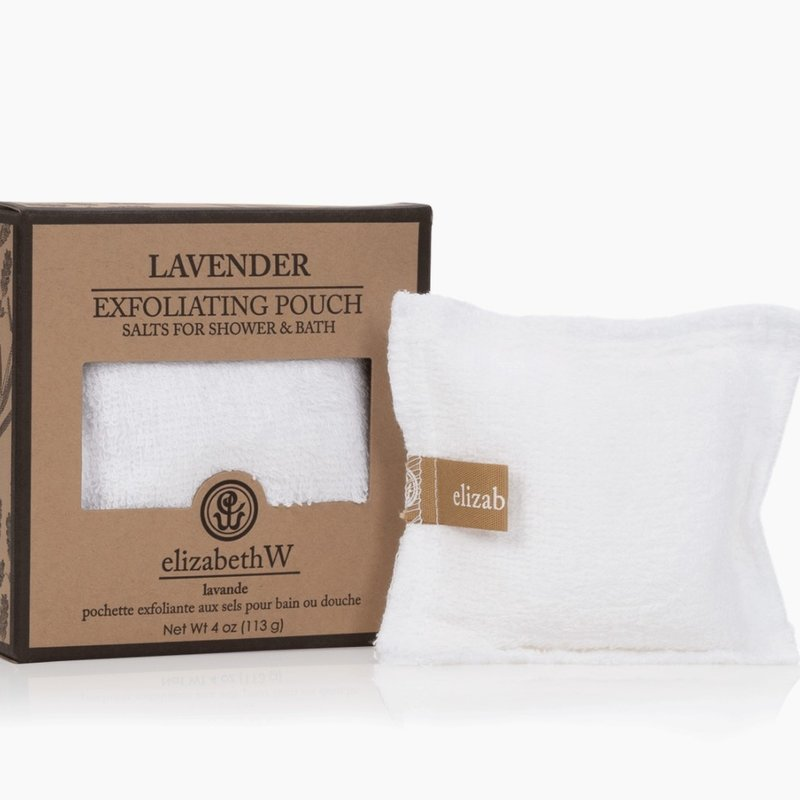 Elizabeth W 4oz Lavender Exfoliating Pouch