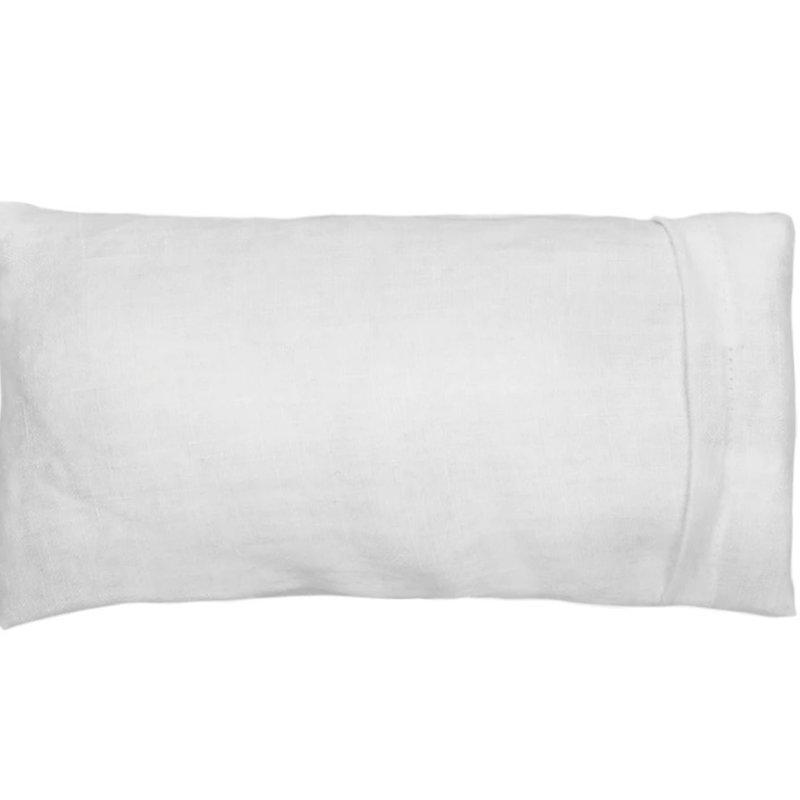 Elizabeth W Washed Ivory Linen Eye Pillow