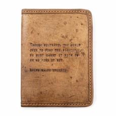 Sugarboo Ralph Waldo Emerson Leather Passport Cover