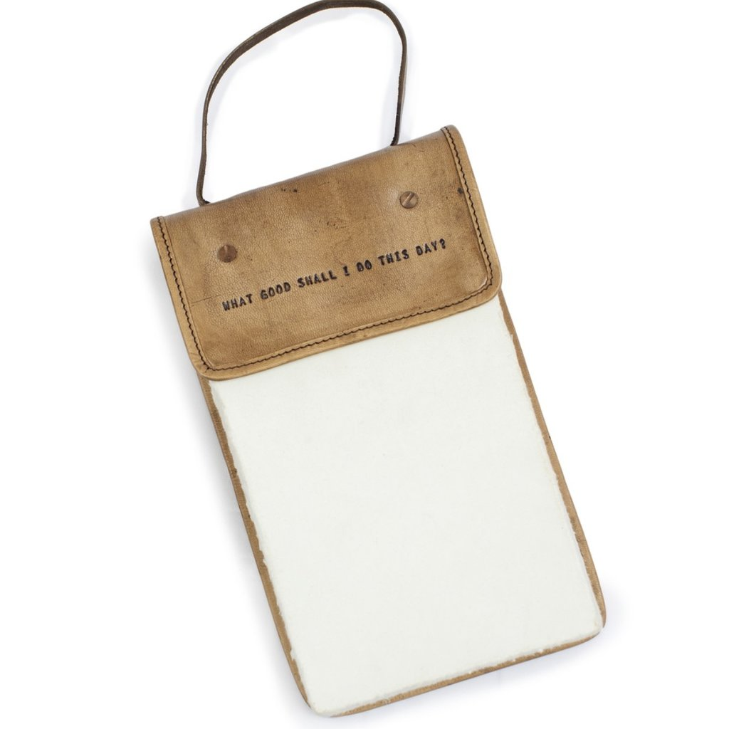 Sugarboo What Shall I Do This Day Hanging Leather Journal