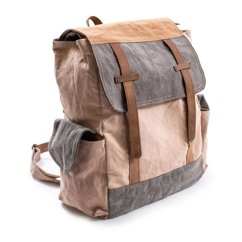 Sugarboo Washed Canvas Backpack w Leather