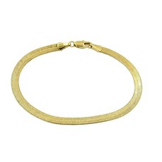 Paradigm Gold Overlay Herringbone Bracelet