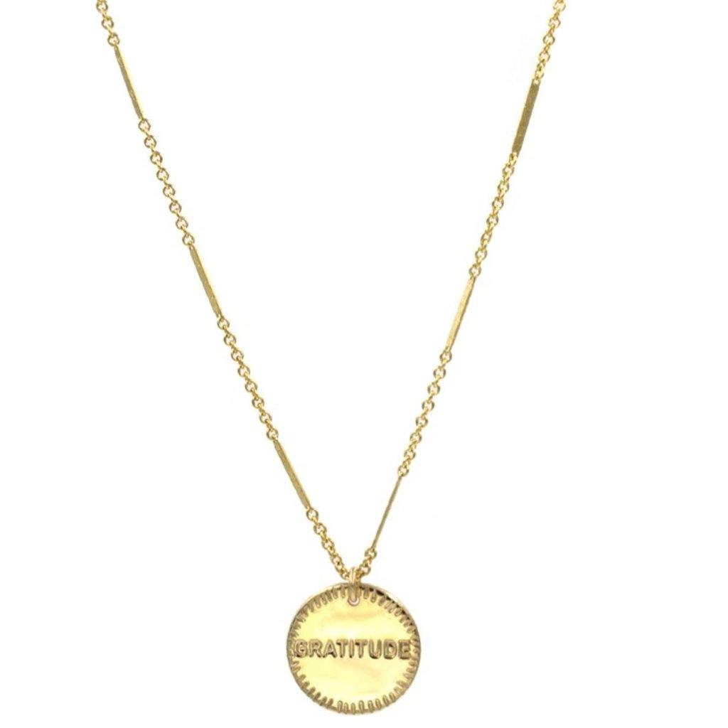 Paradigm Gold Fill Gratitude Coin Necklace