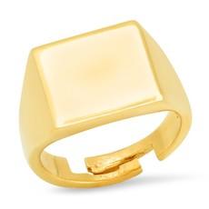 Tai Gold vermeil plain square signet ring