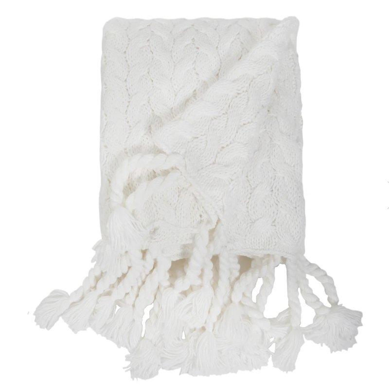 Pom Pom at Home Capistrano Throw White