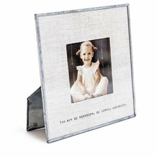 Sugarboo You Are My Sunshine Glass Linen 6x6 Photo Frame