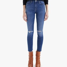 Mother High Waisted Looker Ankle Fray Nature Tune Up