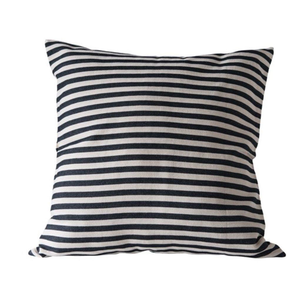 "26"" Square Cotton Woven Striped Pillow"