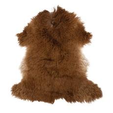 Two-Tone New Zealand Lamb Fur Rug, Brown - Each Varies