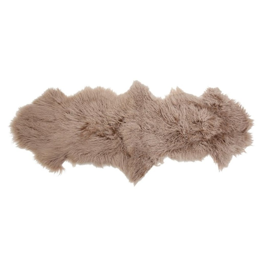 Tibetan Lamb Fur Rug, Nude Color