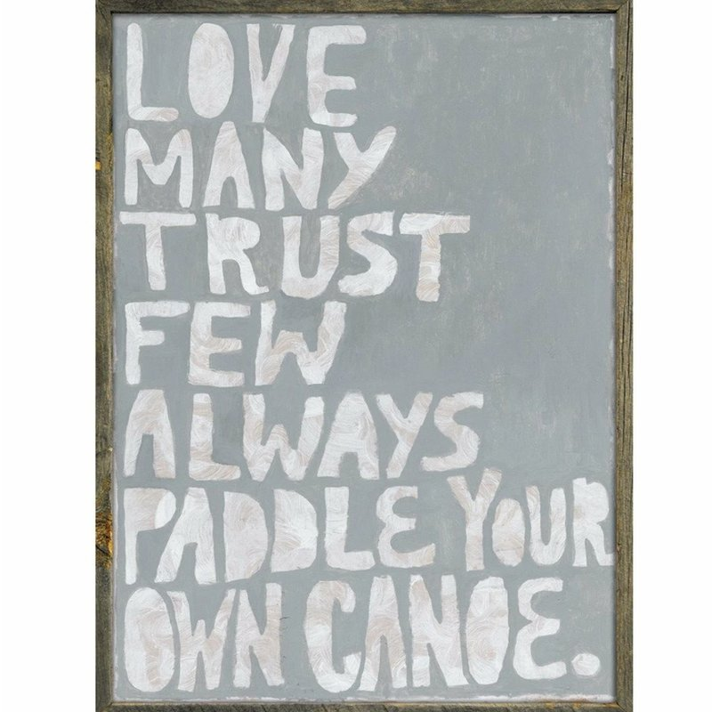 """Sugarboo Art Print Paddle Your Own Cnoe 33"""" x 44.75"""""""