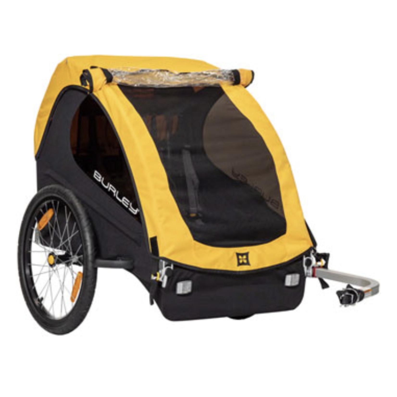 BURLEY Burley Bee 2016 Child Trailer Yellow Double Seat