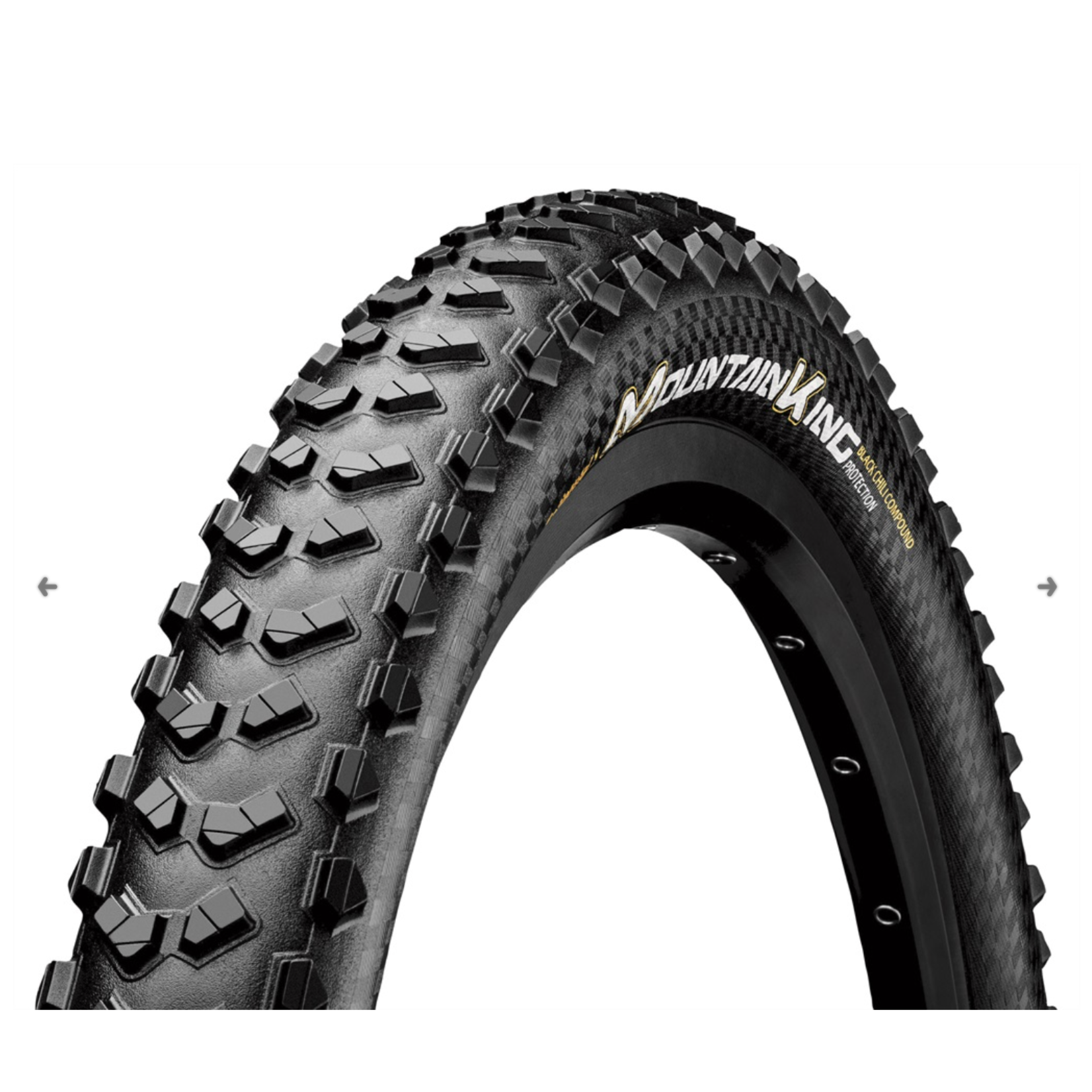 HIGHWAY 2 Continental XC/Enduro Tires Mountain King 29 x 2.3 Folding ProTection + Black Chili4019238798432
