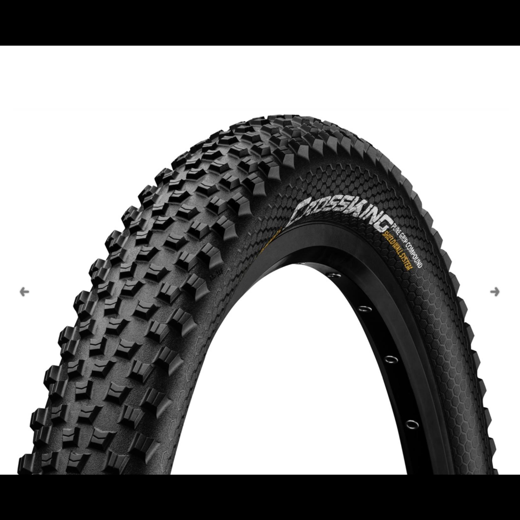 CONTINENTAL TIRES Continental XC/Enduro Tires Cross King 27.5 x 2.6 ShieldWall Folding TR + Puregrip