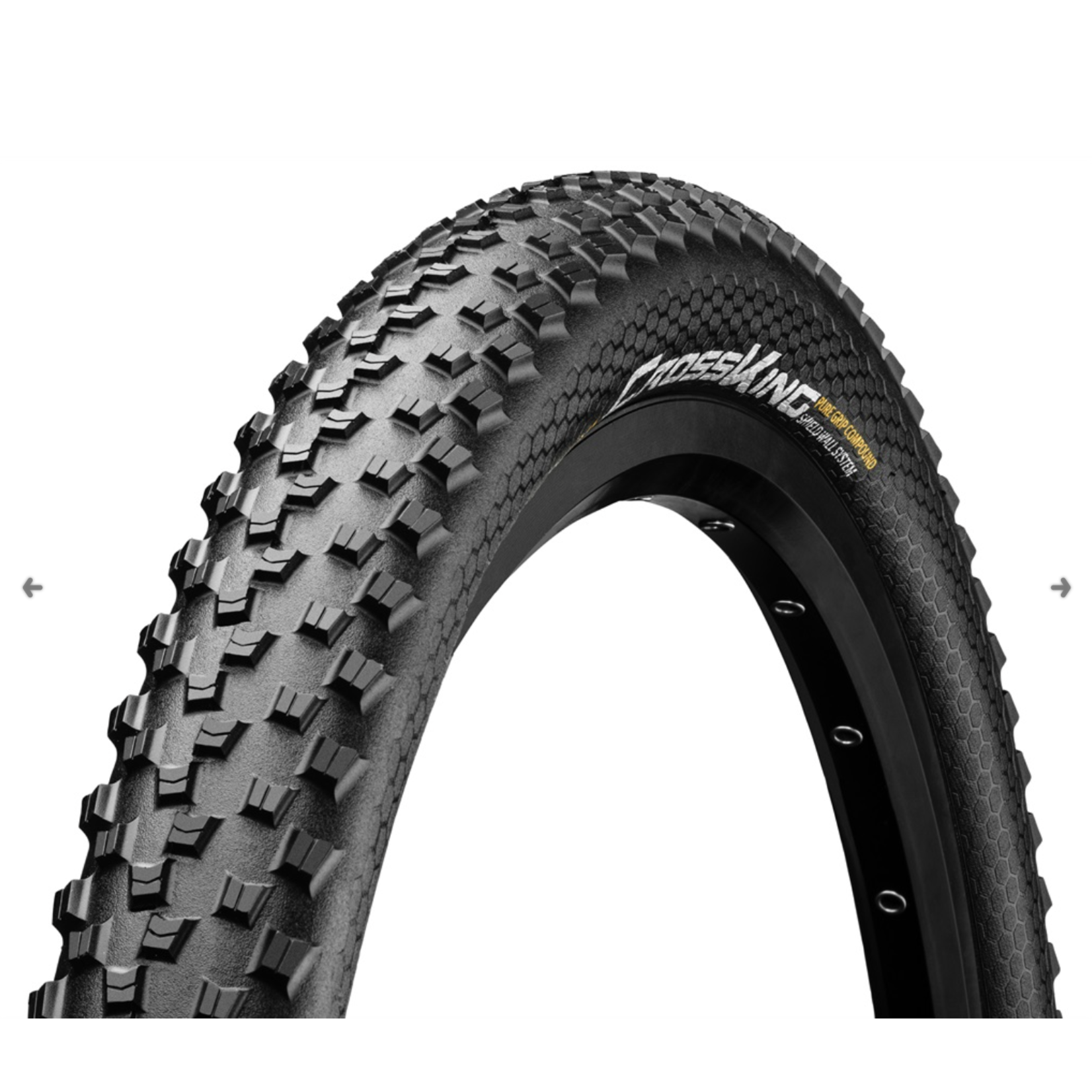 CONTINENTAL TIRES Continental XC/Enduro Tires Cross King 27.5 x 2.3 ShieldWall Folding BW