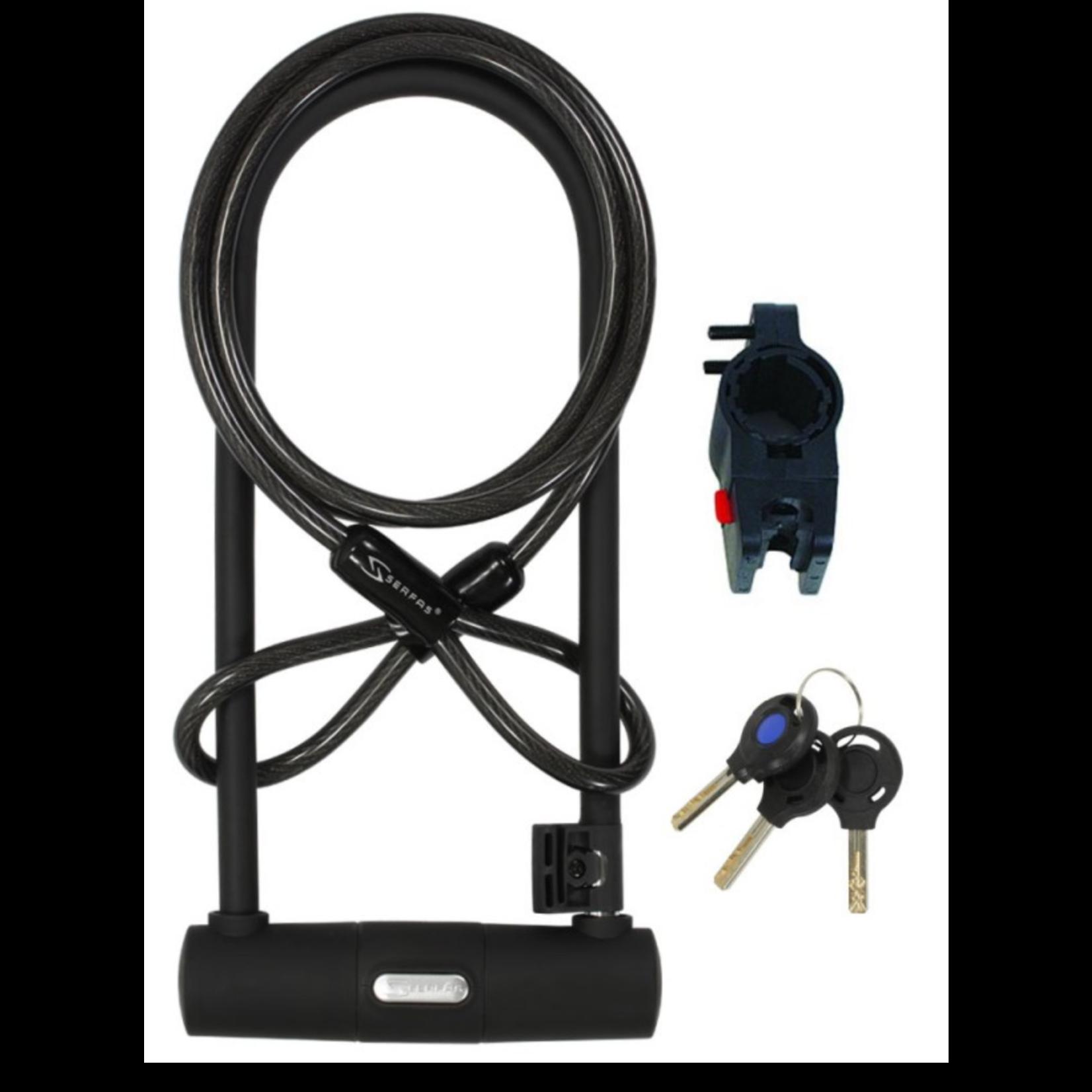 SERFAS U-LOCK/ CABLE & BRACKET  290MM