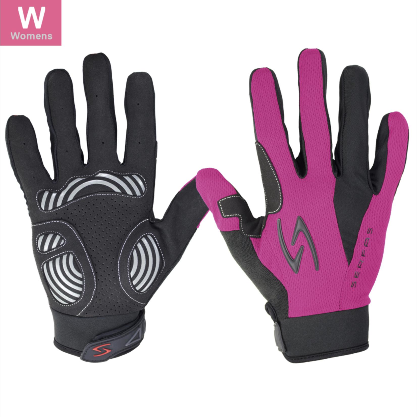SERFAS Zen Long Finger Gloves ZLW-PK-2 Pink Womens LG (SERFAS)