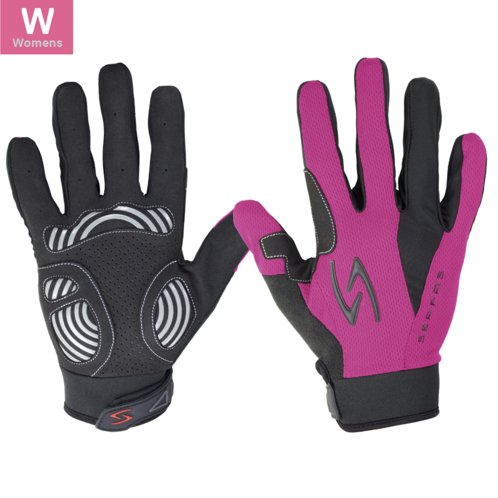 SERFAS ZLW-PK-3 ZEN Long Finger Gloves Pink Womens MD (SERFAS)