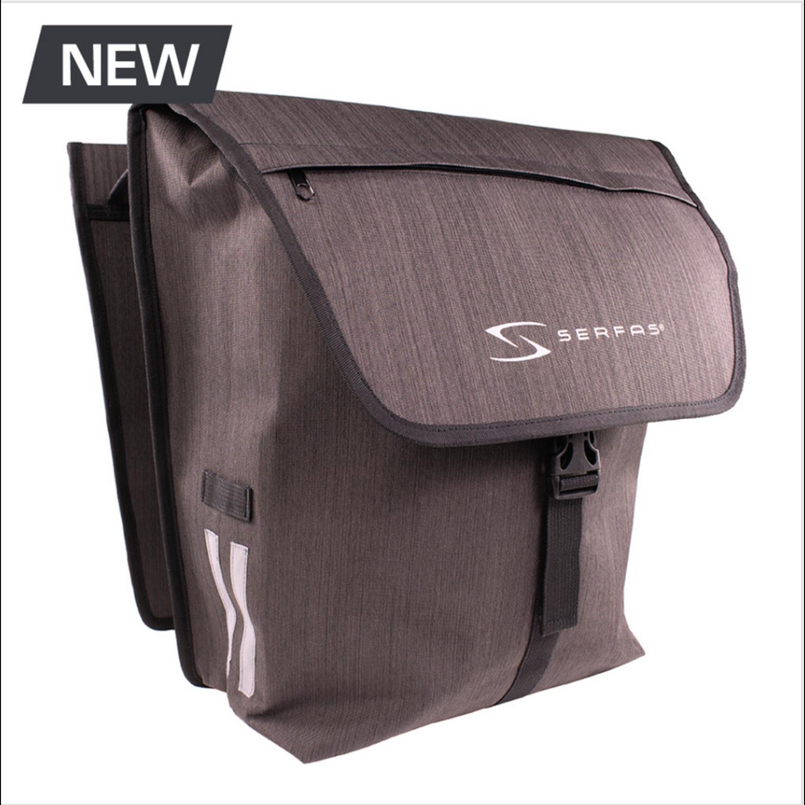 SERFAS PB-2BLK Pannier Double Bag Gray/Black (Serfas)