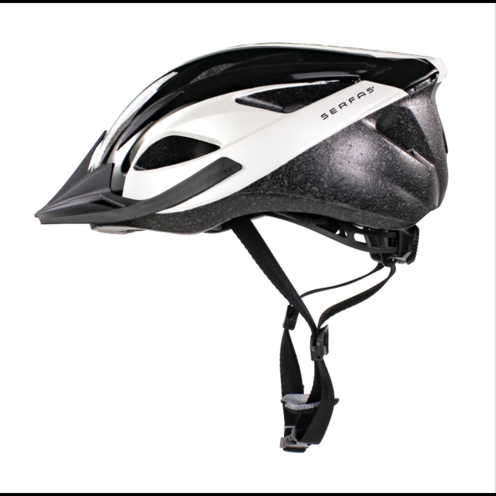 SERFAS Helmet HT-200WTBK Karv Gloss WHT/BLK SM/MD (SERFAS)