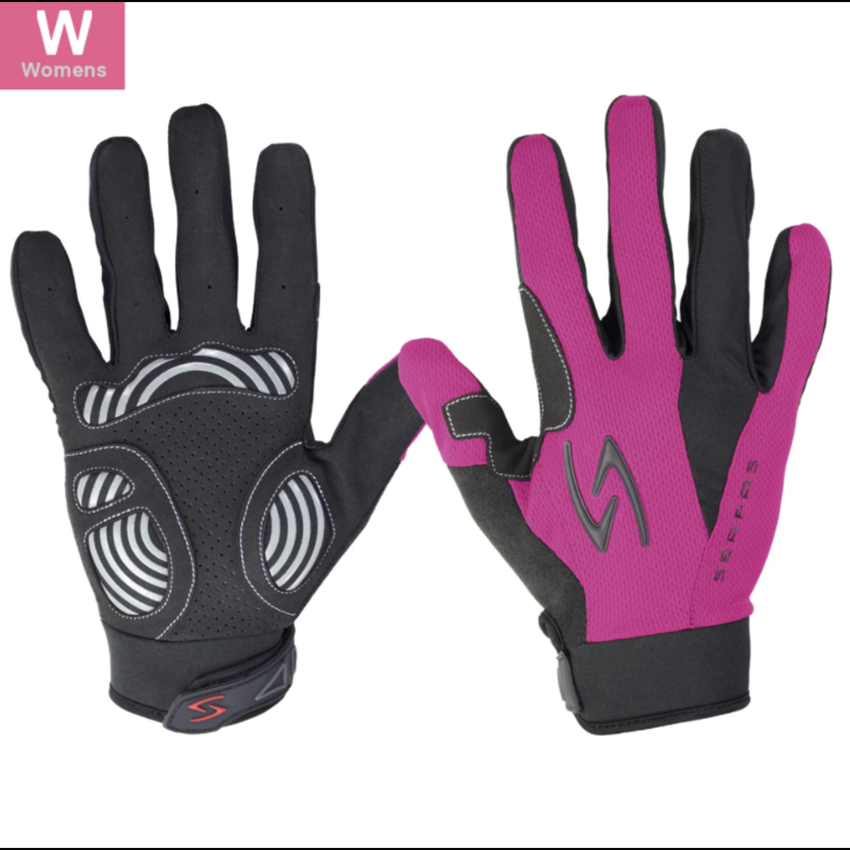 SERFAS ZLW-PK-4 ZEN Long Finger Gloves Pink Womens LG (SERFAS)