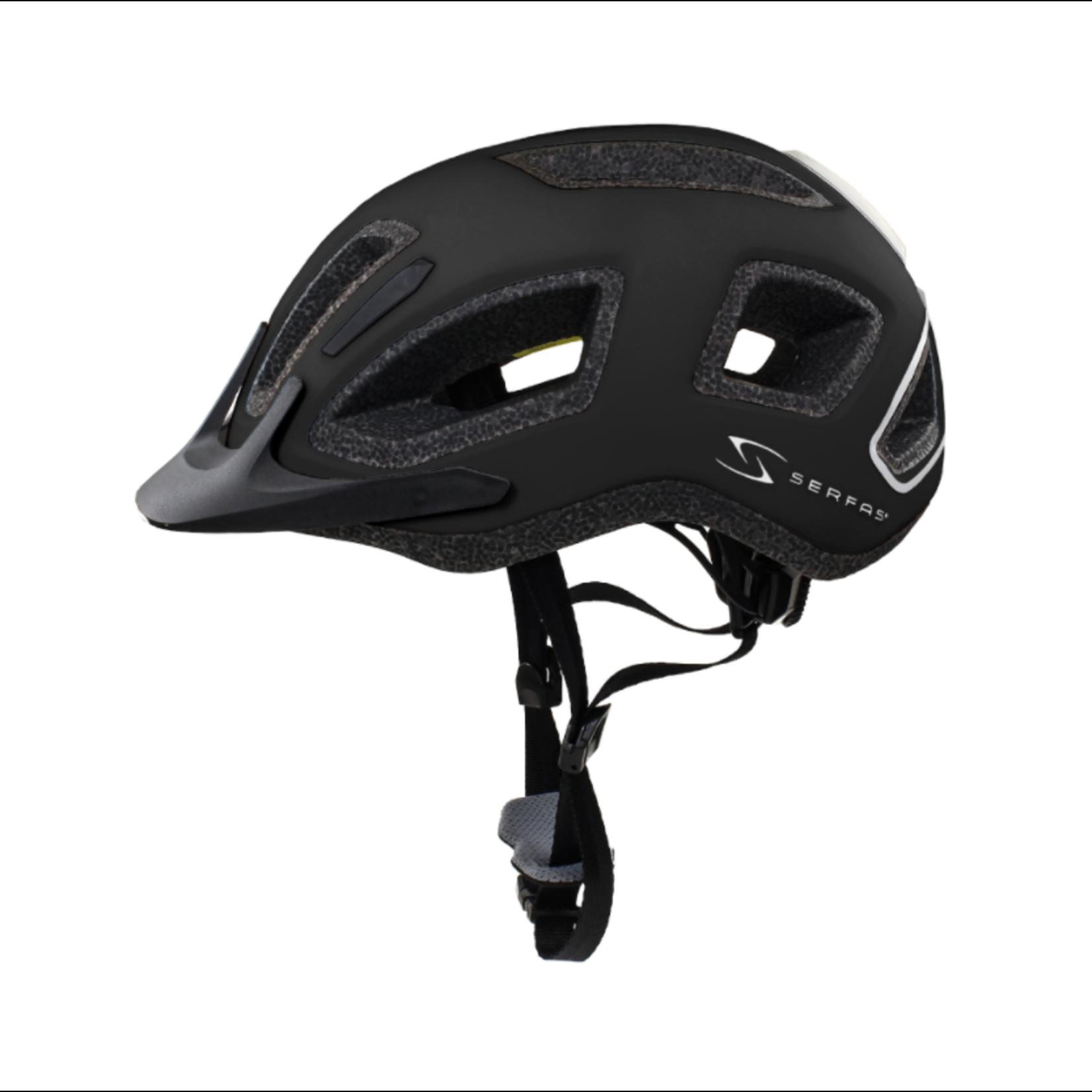 SERFAS Helmet HT-404BKGY Metro Matte Black LG/XLG (SERFAS)