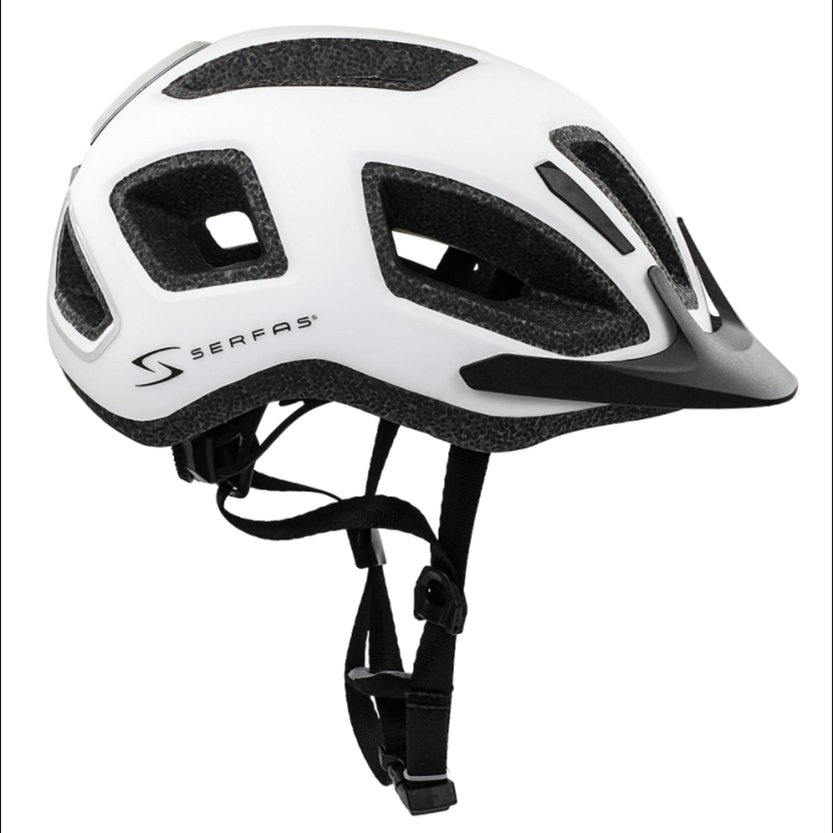 SERFAS Helmet HT-400WTBK Metro Matte White SM/MD (SERFAS)