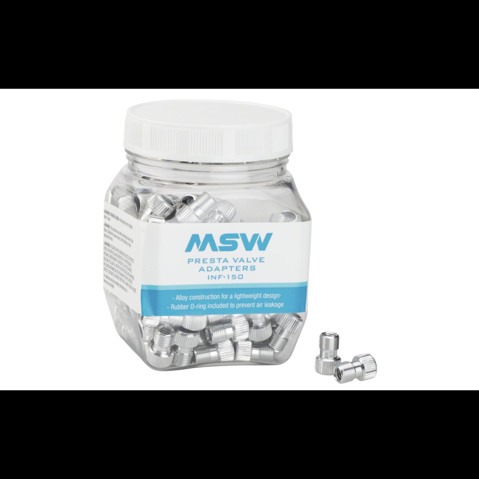 MSW PRESTA VALVE ADAPTERS  PU3350